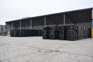Baled and wrapped high-quality RDF bales waiting to be exported.