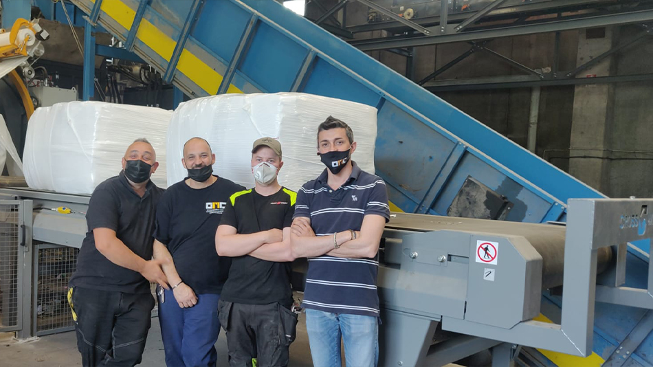 OMC and Cross Wrap installing New Ecology machine in Potenza_2021