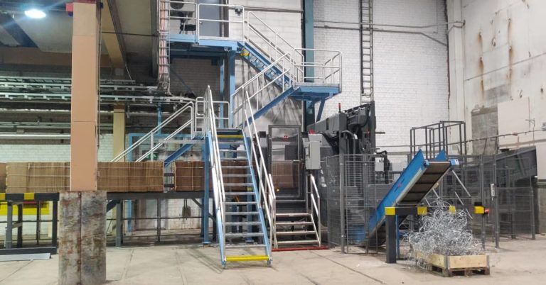 Paper recycling machine Cross Wrap