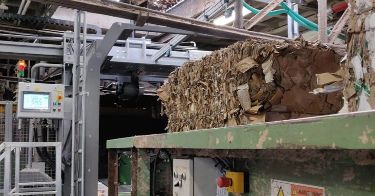 Paper recycling machines Cross Wrap